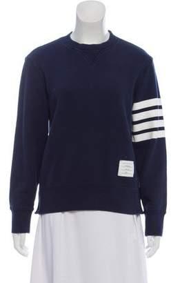 Thom Browne Striped Crew Neck Sweatshirt