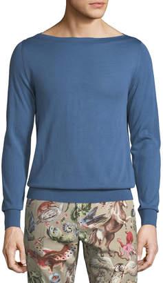Valentino Men's Wool Boat-Neck Sweater