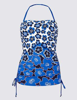 Marks and Spencer Floral Print Bandeau Tankini Top