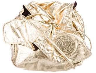 Carlos Falchi Metallic Butterfly Crossbody Bag
