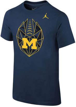 Jordan Michigan Wolverines Icon T-Shirt, Big Boys (8-20)