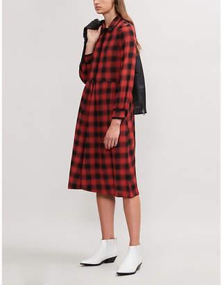 Claudie Pierlot Roanne tartan woven dress