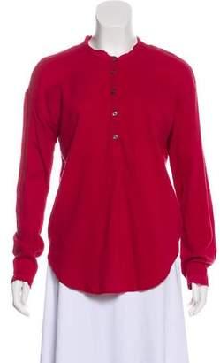XiRENA Long Sleeve Button-Up Top