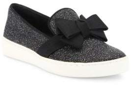 Michael Kors Collection Val Glitter & Grosgrain Skate Sneakers