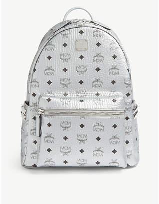 MCM Stark Visetos coated canvas metallic mini backpack