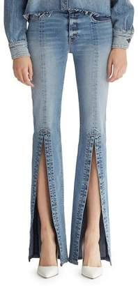 Hudson Nico Mid-Rise Slit Cigarette Jeans