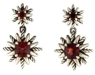 David Yurman Garnet Starburst Earrings