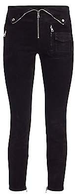 RtA Women's Diavolina Zip Detail Velvet Pants