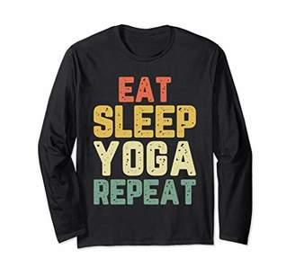 Eat Sleep Yoga Repeat Funny Teacher Spiritual Gift Vintage Long Sleeve T-Shirt
