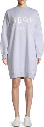 MSGM Main Oversized Cotton Sweater Dress