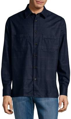 Luciano Barbera Men's Plaid Button-Down Shirt