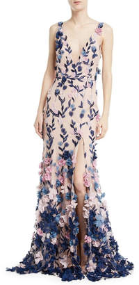 Marchesa Sleeveless Petal Gown