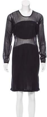 Maison Rabih Kayrouz Long Sleeve Knee-Length Dress