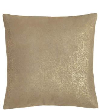 Donna Karan Home Opal Essence Metallic Leather Pillow, 16