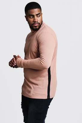 boohoo Big & Tall Ribbed Turtle Neck Sweater