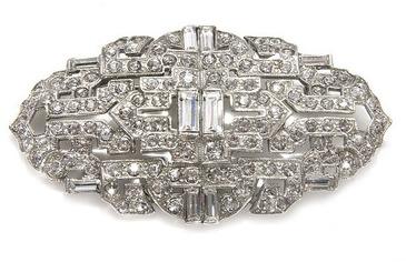 Ben-Amun Ben Amun Crystal Deco Brooch