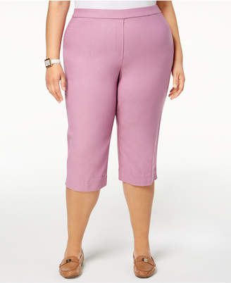 Alfred Dunner Los Cabos Plus Size Pull-On Capri Pants