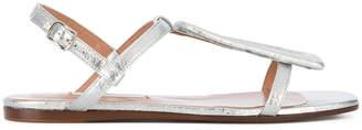 L'Autre Chose laminated sandals