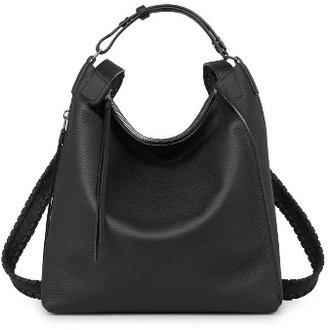 Allsaints Small Kita Convertible Leather Backpack - Black $378 thestylecure.com
