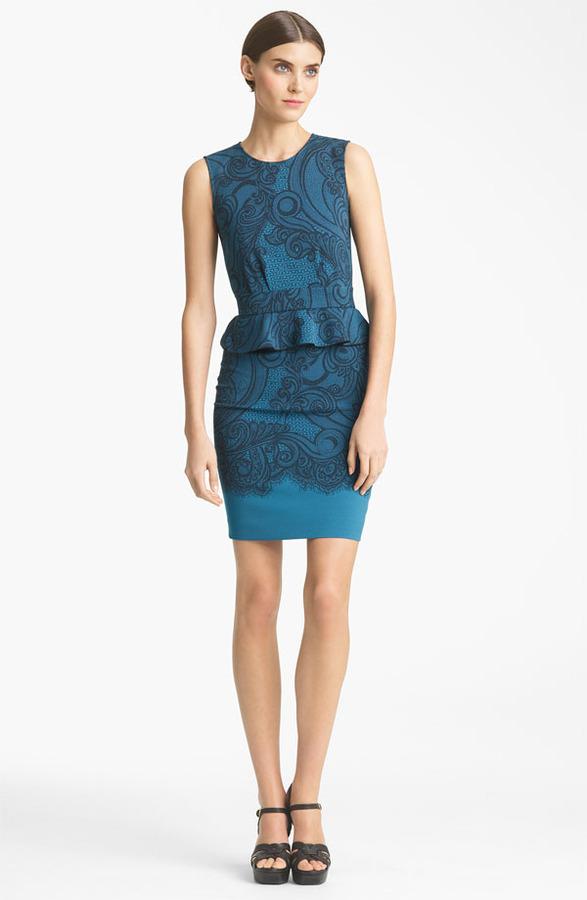 Emilio Pucci Peplum Jersey Dress