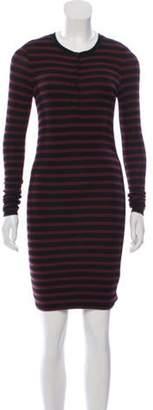 ATM Anthony Thomas Melillo Long Sleeve Sweater Dress Red Long Sleeve Sweater Dress