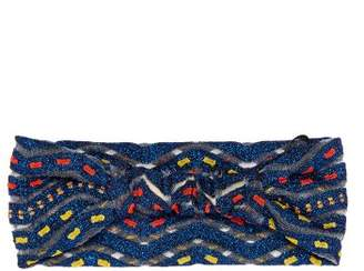 Missoni Mare - Zigzag Knit Headband - Womens - Blue Multi