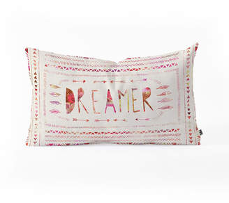 Deny Designs Bianca Green Dreamer Pink Oblong Throw Pillow