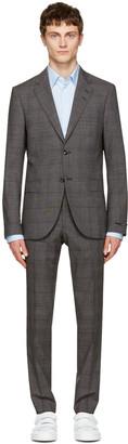 Tiger of Sweden Grey Check Gekko Suit $1,000 thestylecure.com