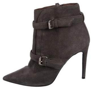 Tabitha Simmons Suede Pointed-Toe Ankle Boots