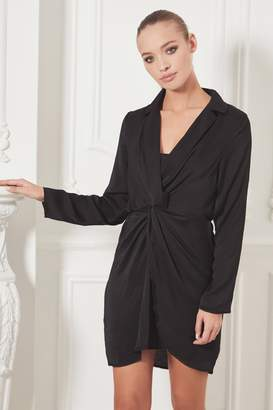 Next Womens Sistaglam Long Sleeve Collar Wrap Dress