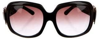 Roger Vivier Buckle Oversize Sunglasses