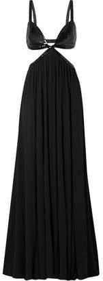 Michael Kors Cutout Sequin-embellished Georgette Gown - Black