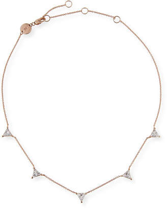 Jennifer Zeuner Jewelry Luz Trillion-Cut White Sapphire Necklace