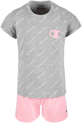 d1ff8da7dc9c Champion Little Girls 2-Pc. Logo-Print T-Shirt & Shorts Set