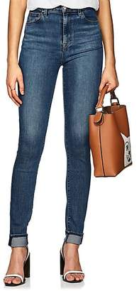 J Brand WOMEN'S CAROLINA HIGH-RISE SKINNY JEANS - MD. BLUE SIZE 25