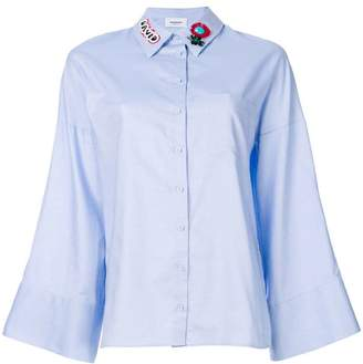 Dondup embellished collar flared sleeve shirt