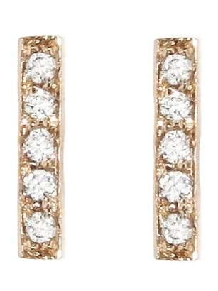 Jennifer Meyer Diamond Bar Stud Earrings - Rose Gold