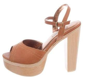 Cynthia Vincent Leather Ankle Strap Sandals