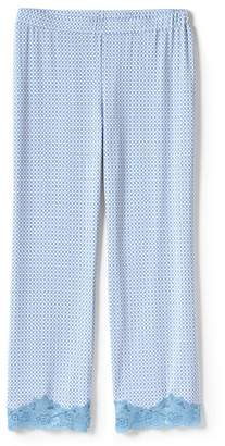 Lands' End Blue Patterned Cotton Modal Pyjama Bottoms