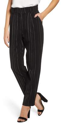 Leith High Rise Belted Paperbag Pants