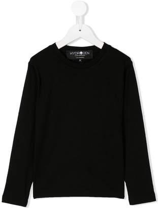 Hydrogen Kids logo print sweater