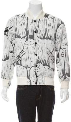 Opening Ceremony Textured Bomber Jacket