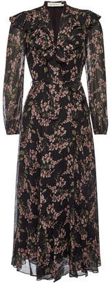 Zimmermann Fleeting Flounce Printed Chiffon Maxi Dress