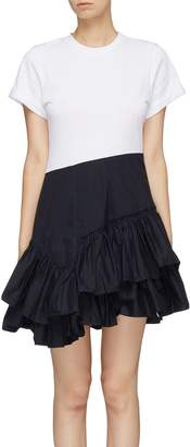 3.1 Phillip Lim Ruffled tiered skirt panel T-shirt dress
