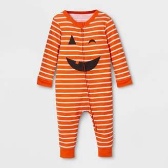 EV Holiday Baby Family Pajama Halloween Pumpkin Footed Sleeper - Orange