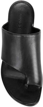 Vince Edris Flat Siviglia Leather Slide Sandals