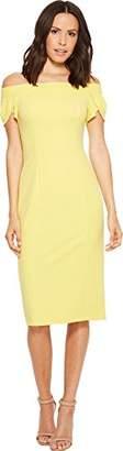 Donna Morgan Women's Crepe Off The Shoulder Dress