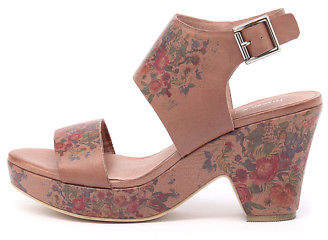Django & Juliette New Ezlam Cafe Flower Womens Shoes Casual Sandals Heeled