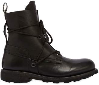 Bikkembergs 20mm Low Washed Leather Boots