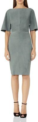 REISS Nola Suede Dress $845 thestylecure.com